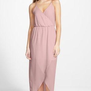 Lush (Nordstrom) Blush Tulip Hem Maxi Dress
